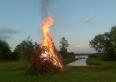 Plaża, miejsce na ognisko nad jeziorem